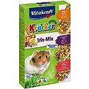Vitakraft Kräcker Trio-Mix, Knabberstangen für Hamster mit Honig/Nuss/Frucht, 5er Pack (5 x 3 Stangen)