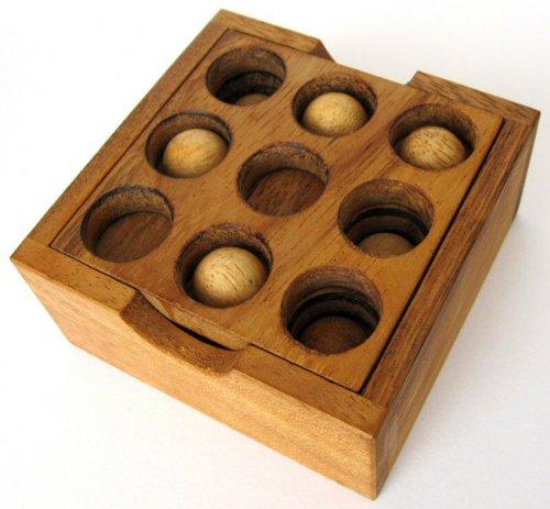 Golf Puzzle - 3D Puzzle - Denkspiel - Knobelspiel - Geduldspiel - Logikspiel aus Holz - 2