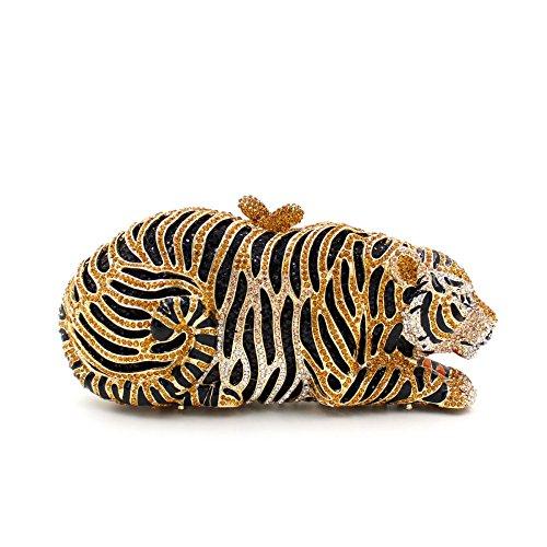 WYB Europäischen und amerikanischen Luxus voller Diamanten Abendtasche Tiger / Abend-Beutel-hochwertige Hand Gold