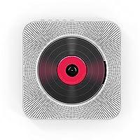 مشغل سي دي مثبت على الحائط بسماعات بلوتوث الصوت المنزلي صندوق الصوت مع جهاز التحكم عن بعد راديو FM AUX مخرج سماعة رأس يو قرص موسيقى مشغل موسيقى