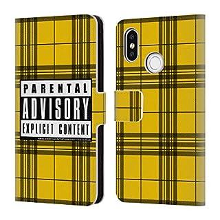 Head Case Designs Offizielle Parental Advisory Senf-Plaid Städtischer Straßenstil Brieftasche Handyhülle aus Leder für Xiaomi Mi 8