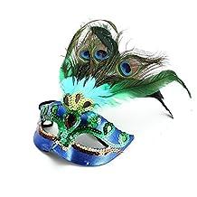 PriMI - Máscaras de disfraces con plumas de pavo real
