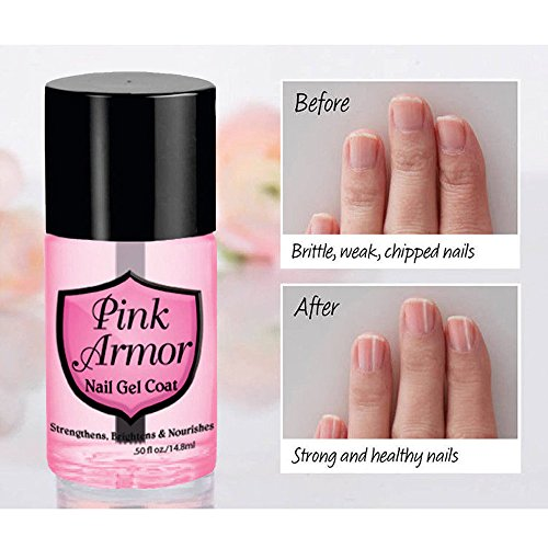 il Nähröl 14.8ml Pink Armor Nail Nutrition Gel Polish Remedy Fix Schutzschicht Keratin Gel ()