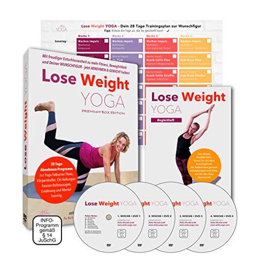Lose Weight Yoga Abnehmen DVD - Premium Box: Freudig und zielsicher in 28 Tagen zur Wunschfigur. Jetzt abnehmen mit Yoga und Gewicht halten. Für Anfänger und Fortgeschrittene | 4 DVD´s