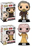 Funko POP! Star Wars The Last Jedi: Luke Skywalker + Supreme Leader Snoke - Stylized Vinyl Bobble-Head Figure Set NEW