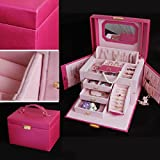princesse de verrouillage de la cassette de bijoux boîte européenne de rangement en bois bijoux sud-coréen boîte cosmétiques bijoux cadeau femme