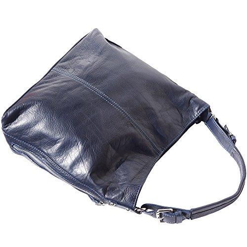 Borsa Hobo a spalla con la tracolla regolabile e staccabile 3013 Blu scuro