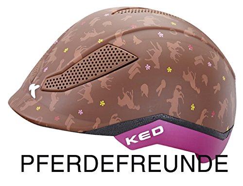 KED Reithelm PINA Cycle & Ride für den Reitsport und Fahrrad-stufenlos verstellbar Pferdefreunde Gr. M = 51-56 cm| Reitkappe - Fahrradhelm