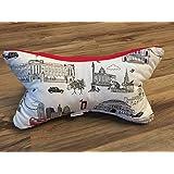 Leseknochen Nackenstütze Nackenrolle Buchstütze Relaxing Neck Pillow Tabletstütze Lagerungskissen London England