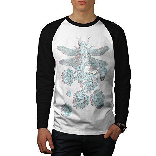 libellule-fleur-insecte-une-fleur-homme-nouveau-blanc-avec-manches-noires-l-base-ball-manche-longue-