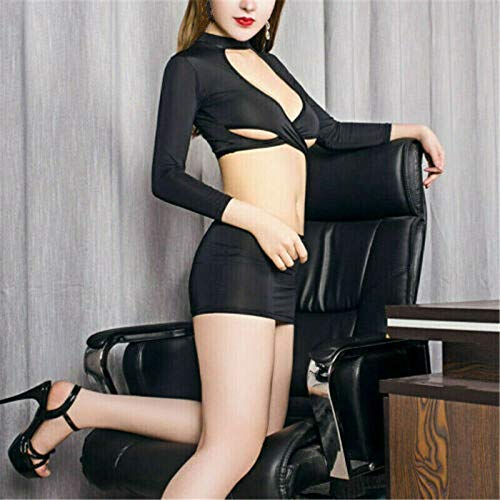 Huaheng 1 Satz Damen Lingerie Sekretärin Uniform Cosplay Rock Kostüm Höschen Rollenspiel - - Super Kostüm Skins