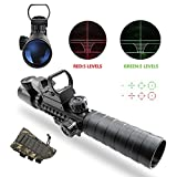 Tactical-Rifle-Scope-UMsky-air-rifle-scopes-Illuminated-3-9x32EG-3-in-1-Hunting-4-Holographic-Reticle-Red-and-Green-Dot-Sight-for-22mm-WeaverPicatinny-Rail-Mount