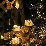 12 LED Teelichter Flackernd Flammenlose Kerzen, Kohree Teelicht LED Teelichter Batteriebetrieben, Warmweiß