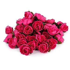 50 stk 3cm k nstliche seide rosen k pfe hochzeit blumendekoration rose rot k che. Black Bedroom Furniture Sets. Home Design Ideas