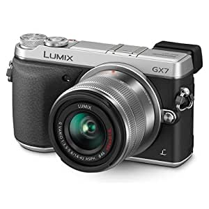 """Panasonic GX7 Appareil photo numérique hybride Ecran 3"""" 16 Mpix Zoom optique 30x Argent + Objectif 14-42mm"""