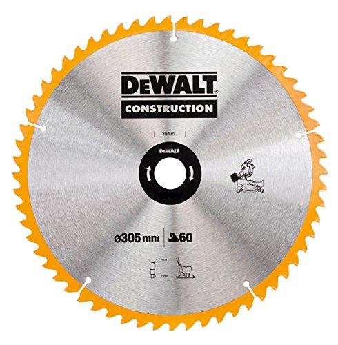 DeWalt Bau-Kreissägeblatt für Stationärsägen/Kreissägenblatt (305/30 mm 60WZ, universeller Einsatz und Querschnitte) DT1960