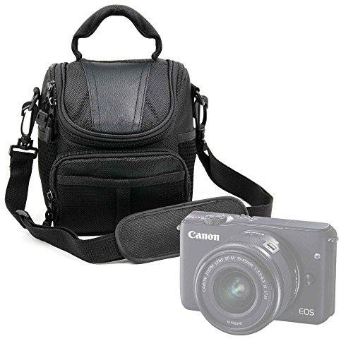 Galleria fotografica Borsa Per Fotocamera Camera Easypix W1024 Full HD | Fujifilm FinePix XP120 | X100F | Nikon A10 Coolpix Silver | Coolpix A100 - Con Maniglia + Tracolla Di Trasporto - Spazio Per Accessori - Alta Qualità - DURAGADGET