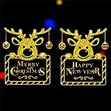 ODJOY-FAN Weihnachten Gold Wandaufkleber Fenster Tür Aufkleber Zuhause Dekoration Gemälde Haushalt Mauer Aufkleber Wandgemälde Dekor Abziehbild Wandtattoos (40X60cm) (I,1 PC)