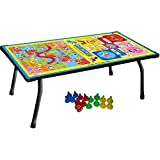 Varshine 2 In 1 Kids Board Game Table Ludo, Snake & Ladder Support Table and Multipurpose Table