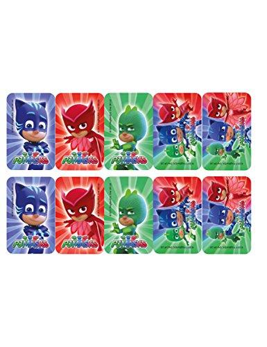 uchendeko Catboy, Gecko, Eulette 12 Stück blau-rot-grün 8x5cm Einheitsgröße (Kleine Gecko Kostüm)