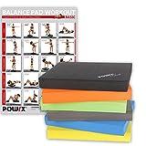 Balance Pad / Tapis d'entraînement / Coussin d'équilibre - Idéal pour le yoga, le pilates, la proprioception et la rééducation / Coloris différents (Noir)