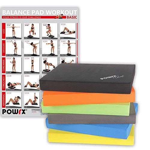 Balance Pad / Sitzkissen / Kissen Yoga Pilates Verschiedene Farben (Schwarz)