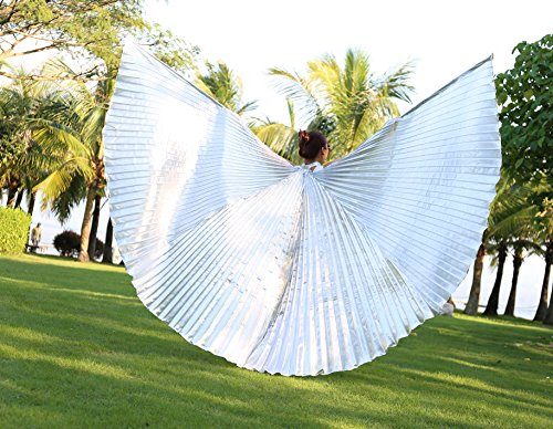 Dance Fairy Bauchtanz Isis Flügel mit den Stöcken / Stäben,Silber