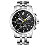 guanqin Herren Analog Armbanduhr Display Sport beliebten Marke Automatische Mechanische Automatik Edelstahl Business Armbanduhr Datum Luminous Wasserdicht Silber Schwarz