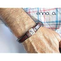 Pulsera de cuero marrón, pulsera de cuero regaliz, pulsera cuero, pulsera hombre, accesorios hombre, regalos cumpleaños, complementos cuero