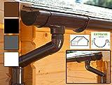 Dachrinnen/ Regenrinnen Set   Satteldach (2 Dachseiten)   Extra100   in anthrazit, weiß, braun oder schwarz! (Komplettes Set bis 4.50 m, Braun)