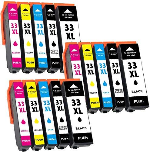 Jagute Ersetzt für Epson 33XL 33 XL Druckerpatronen Kompatibel für Epson Expression Premium XP-540 XP-830 XP-900 XP-645 XP-530 XP-630 XP-640 XP-635 XP-7100, Epson XP830 XP900 XP530 XP7100 15er-Pack