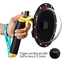 YOEMELY 6 inch Dome Port Lens for GoPro HERO 6 / HERO 5 with Waterproof Housing, Handheld Floating Grip, Trigger Pistol and Protective Bag for Underwater Photography