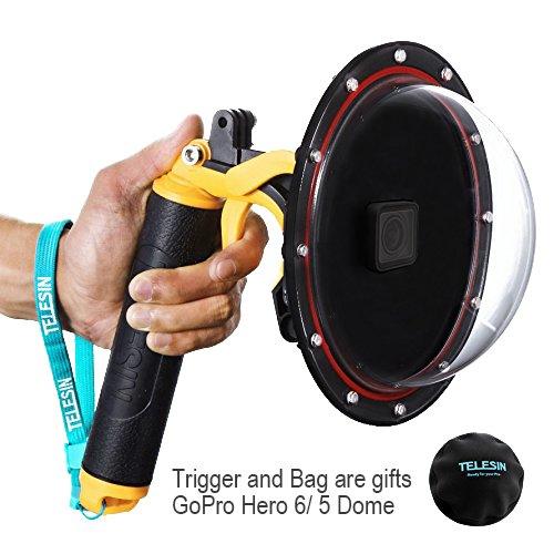Galleria fotografica Yoemely 15,2cm Dome Port per GoPro Hero 5nero con subacquea Trigger e borsa di protezione per la fotografia subacquea (T05)
