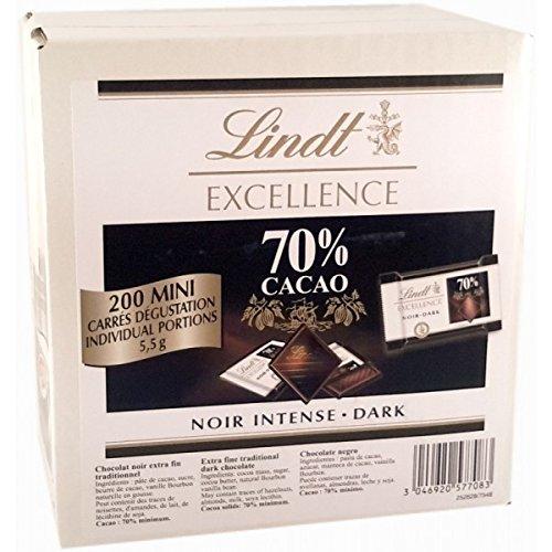 Mini Carrés noirs dégustation Lindt Excellence