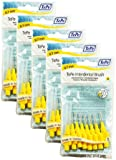 TePe Interdental Brushes 0.7mm Yellow - 5 Packets of 8 (40 Brushes)