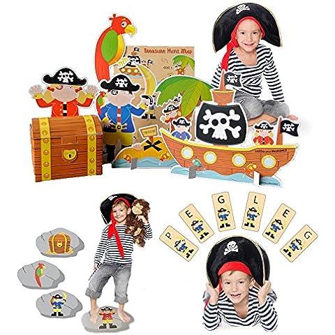 Partido Pirata Juegos - conjunto de 3 para los ninos
