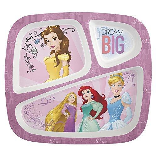 Zak! Designs 3-Section Plate featuring Disney Princess Graphics, Break-resistant and BPA-free Plastic by Zak Designs - Moto Graphic Design