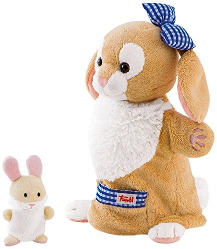 Trudi - Marioneta de peluche coneja con conejito (29994)