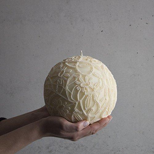 Gran bola vela 160mm color crudo Vela decorativa