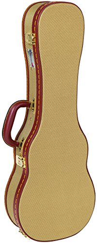 Kinsman KUX12 Concert Deluxe Ukulele Wooden Case with Tweed Covering