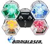 OmniaLaser OL-PSI4ECOLED Kleine 4-Kanal-Lichtorgel, 20LEDs, mit Steuereinheit und 4 LED-Scheinwerfern, mit Mikrofon, für den Innenbereich
