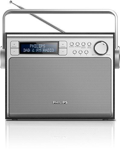 Philips AE5020B Portátil Digital Negro, Plata - Radio (C, Portátil, LCD, Digital, DAB+, FM, Corriente alterna, Batería)