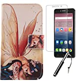 Lankashi Wing Girl Design 3in1 Zubehör Set PU Flip Leder Tasche Für Alcatel One Touch Pixi 4 6