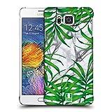 Head Case Designs Palmen Blaetter Tropische Marmor Drucke Ruckseite Hülle für Samsung Galaxy Alpha
