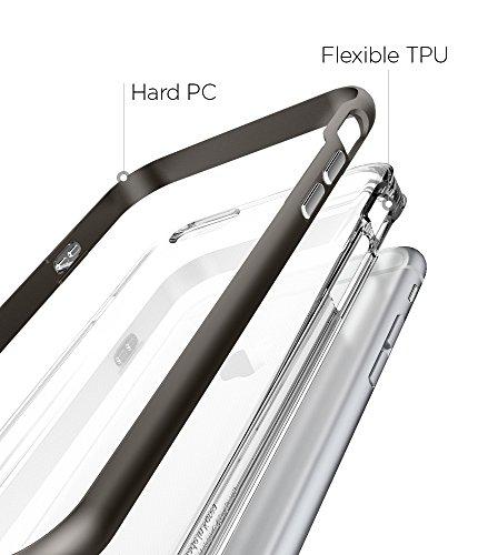 iPhone 6S Hülle, Spigen® [Neo Hybrid EX] Dual-Layer Schutzrahmen [Shimmery White] TPU Schale + PC Farbenrahmen / 2-teilige Premium Handyhülle / Schutzhülle für iPhone 6/6S Case, iPhone 6/6S Cover - Sh NHEX Gunmetal