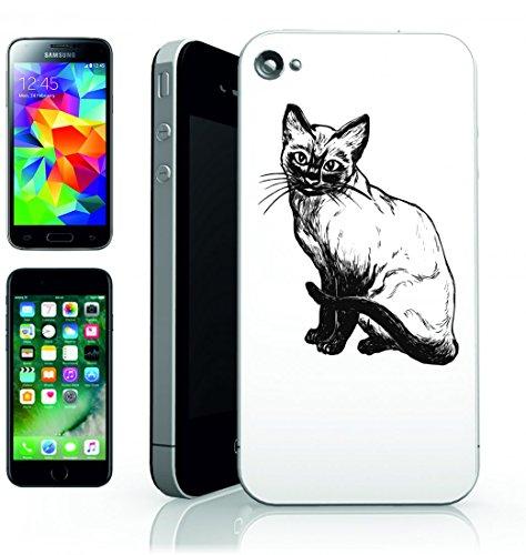 Smartphone Case Siamese del gatto domestico del gatto seduto-Gattino Siamese reinr pura del gattino di Mammifero dal pelo corto di animale per Apple Iphone 4/4S, 5/5S, 5C, 6/6S, 7& Samsung Galaxy