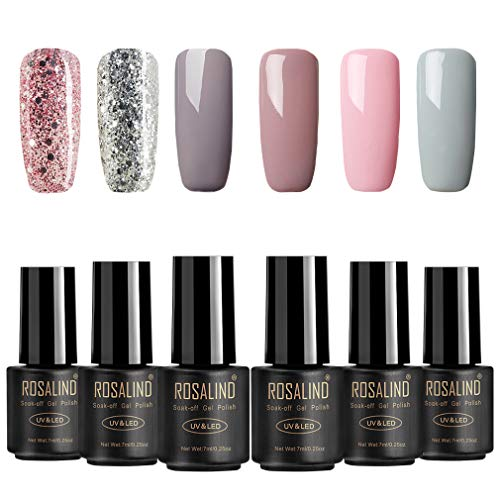 ROSALIND 6 * 7ml Sets uñas 4* Color sólido