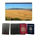 PU Pass Passetui Halter Hülle Schutz // M00242522 Ernte Herbst-Weizen-Korn Landwirt // Universal passport leather cover