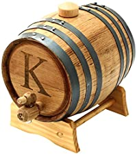 Cathy's Concepts Personalized Original Bluegrass Barrel, Medium, Letter K