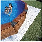 Manufacturas Gre MPROV500 - Tapis de sol en feutre  5,25 x 3,25 m pour piscine ovale